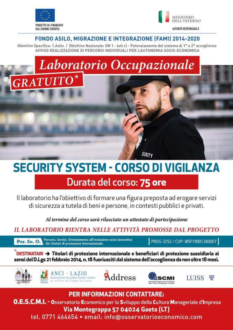 """Avvio Corso di Formazione """"Security System"""""""